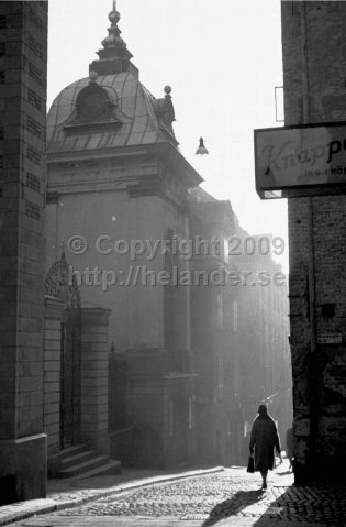 Old town (Gamla stan), Stockholm. This photo is being sold as posters at IKEA. (1961)