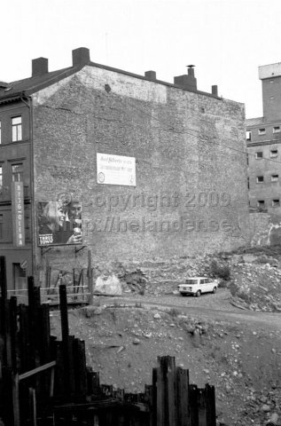 The entire Klara blocks is demolished to make space for the new Stockholm city. (1966)