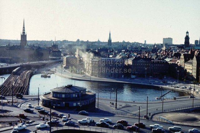 View over Gamla Stan from Katarinahissen, Stockholm. (1960\'s).