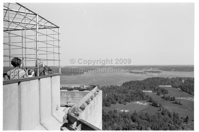 Visiting the newly built Kaknästornet, Stockholm. (1970)