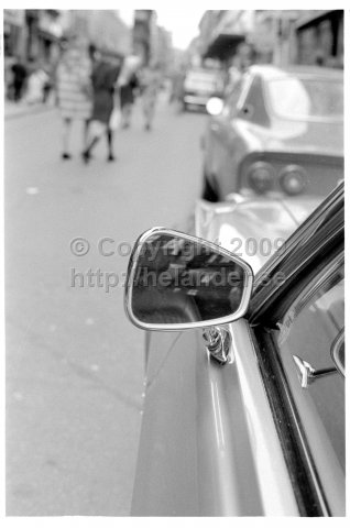 Car rear view mirror, Stockholm. (1971)