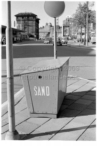Sand box for the winter, Stockholm. (1971)