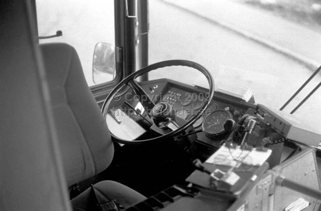 Drivers seat in a SL-bus. (1987)